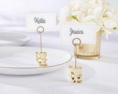 LOVE Gold Place Card Holder (Set of 6) | Kate Aspen