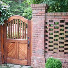 Using a Pierced Brick Wall to break up garden spaces would create a Secret Garden Feel.