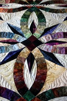 Bali wedding star. My first time quilting. 2 different colors of thread.