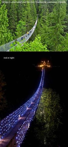 Vancouver, Canada - super scary, but I might consider doing it at night with all the lights! Did not know Vancouver had this! Places Around The World, Oh The Places You'll Go, Places To Travel, Places To Visit, Around The Worlds, Dream Vacations, Vacation Spots, Future Travel, Canada Travel