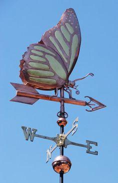 Monarch Butterfly Weathervane - Handmade Of Copper