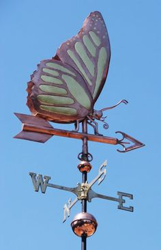 Monarch Butterfly Weathervane - Handmade Of Copper