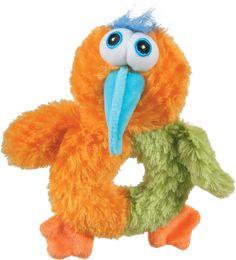 """Plush """"Birdy Love"""" toy orange - Colorful and offbeat! - A new range of unique, colorful plush toys for dogs! - With their quirky design and vibrant colors, anyone who likes things soft and whimsical will love these! - CE certified. More informations on zolux.com  #dog #zolux"""
