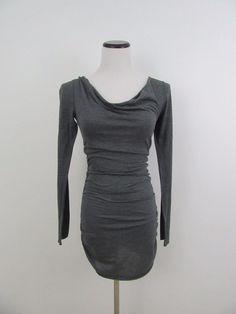 FP Beach Free People Gray Sheath Striped Dress Size XS #FPBeachbyFreePeople #Sheath #Casual