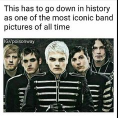 True. This picture is pretty much the only one used whenever there's an MCR related thing on the internet.