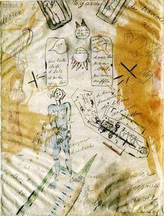 Antonin Artaud -La Machine de l'être ou Dessin à regarder de traviole, 1946