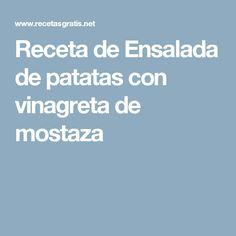 Receta de Ensalada de patatas con vinagreta de mostaza
