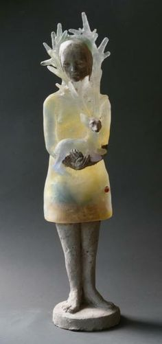 "Made by: Christina Bothwell , ""Suppose We Never Met"" - cast glass, clay, cement…"
