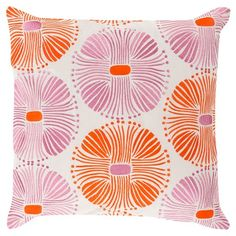 "Target - Multi Burst Toss Pillow - Poppy (18""x18"") - $100"