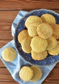 Galletitas de naranja y coco Baking Recipes, Cookie Recipes, Snack Recipes, Dessert Recipes, Snacks, Desserts, Coconut Cookies, Dessert Bread, Gluten Free Cookies