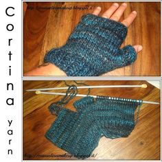 Odd balls of Cortina yarn? No panic! Here's an idea for a perfect one-ball-project!;)  #adriafil #yarn #filato #gloves #mittens #handwarmers #shades #cortina #wool #laine #petroleum #petrole #fashion #moda #trends #creativity #knit #knitting #tricot #tricoter #maglia #handmade #craft #diy #doityourself