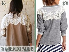 DIY anthropologie sweatshirt