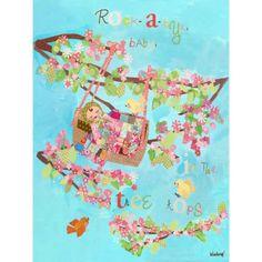 Oopsy Daisy - Rock a Bye Baby Canvas Wall Art 18x24, Winborg Sisters