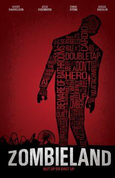 Zombieland (2009) ~ Minimal Movie Poster by Tom Kyle