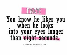 I guess Ill try this with my crush! It's hard to keep eye contact with him tho! His eyes are just  I get nervous!