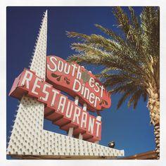 Boulder City, Nevada Old Neon Signs, Vintage Neon Signs, Old Signs, Boulder City Nevada, Las Vegas, Love Neon Sign, Diner Restaurant, Roadside Attractions, Business Signs