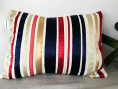 Royal Gold Ribbon cushions Gold Ribbons, Pattern Books, Interior Decorating, Cushions, Throw Pillows, Wool, Knitting, Crochet, Handmade