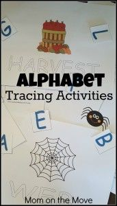 Alphabet Tracing Activities -Mom on the Move