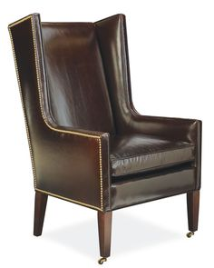 This wingback chair incorporates clean lines for an updated look. It works well at the head of the table or in a living room. We love to have it in the living room and move it when we need extra seating for dining. Made in America 3914 host chair from Lee Industries available at The Stated Home in your choice of fabric. Click here to learn more: http://www.thestatedhome.com/american-furniture-lee-industries-new-orleans-host-chair   Lee Industries 3914-41   Made in USA   American Made  