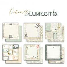 6 feuilles de papier recto-verso – 30,5x30,5cm – Cabinet de Curiosités