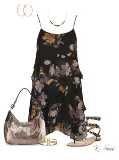 """""""Untitled #3261"""" by ksims-1 ❤ liked on Polyvore featuring Topshop, Neiman Marcus, Valentino, Sole Society, 1928, Pernille Corydon, women's clothing, women, female and woman"""