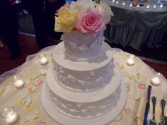 Wedding cake at Independence Grove in Libertyville on 7-21-13