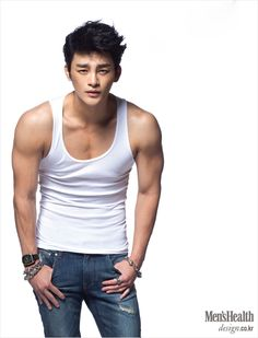 Men's Health, September 2013 I like Seo In Guk because he's so... normal.  He's not rail-thin and idol-like.