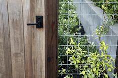 hog wire fence gate latch by nicole franzen