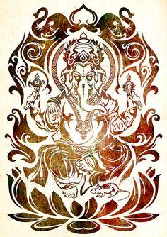 Tribal Ganesh 2017 by Takihisa on DeviantArt Shiva Art, Krishna Art, Hindu Art, Buddhist Symbol Tattoos, Buddhist Symbols, Hindu Tattoos, Ganesha Tattoo, Ganesha Art, Tatuaje Grim Reaper