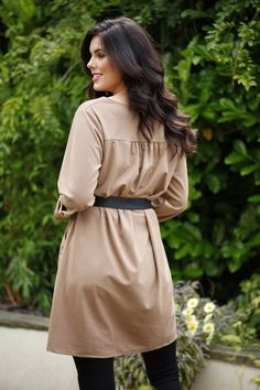 Coffee coloured tunic dress #fashion #tunic #dresses