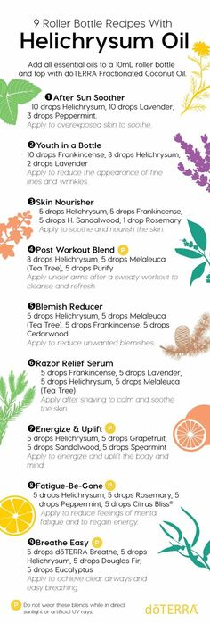 ✨Make -N -Take Monday✨  If you're looking for ways to incorporate Helichrysum oil into your routine, these roller bottle DIY's are for you! Try one or all of these simple roller bottle blends and see quickly how Helichrysum can greatly benefit your life. For product information or to order yours today, please visit www.mydoterra.com/nicolewaliser