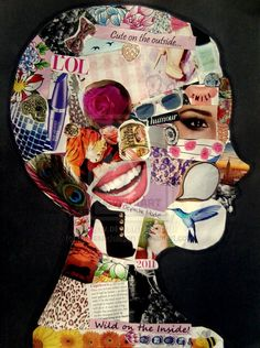 17 Creative Ways to Introduce Yourself to Your Students This Year 17 Unique Ways for Teachers to Introduce Yourself to Your Students<br> You only get one chance to make first impression. Middle School Art, Art School, Magazine Collage, Collage Artwork, Art Moderne, Art Classroom, Teaching Art, Teaching Ideas, Elementary Art