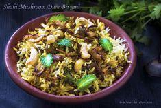 Shahi mushroom dum biryani
