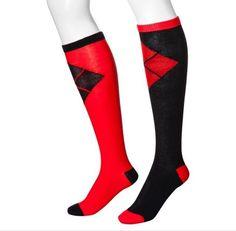 DC Comics Women's Harley Quinn Cape Knee High Socks - Suicide Squad - Batman #DCComics #KneeHigh