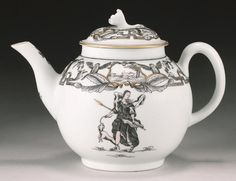 A rare Worcester teapot and cover Goddess Diana circa 1770 sold £860 inc premium @ Bonhams London 2004