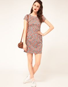 Sessun Shift Dress with fitted Waist in Liberty Floral Print