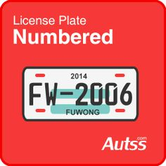 numbered license plate