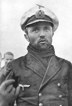 "Kapitänleutnant Günther Prien, returning to Germany after sinking HMS Royal Oak. The ""Bull of Scapa Flow"" would receive the Knights Cross of the Iron Cross for his actions, and U-47 would go on to sink 30 more ships and damage 8 more under his leadership, making it one of the most successful U-boats of the war. Like most U-boat crewmen of the Kriegsmarine, Prien and U-47 did not survive the war. They disappeared in March of 1941 off the coast of Iceland."