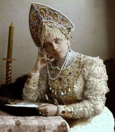 Княжна Юсупова Зинаида Николаевна. Наряд для бала. 1903 г