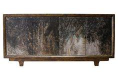 OBSESSED!  Kinda looks like cement-washed....  $2169  Remy Sideboard, Ebony on OneKingsLane.com