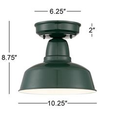 "Urban Barn Collection 10 1/4"" Wide Green Ceiling Light"