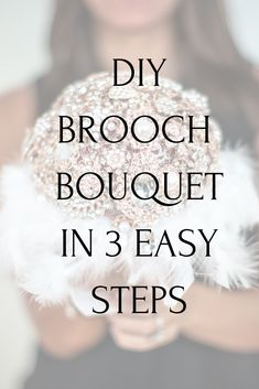 This is the best and easiest diy brooch bouquet tutorial. Make a glam wedding brooch bouquet in 3 steps! Find all the brooches you need at Now available in silver, gold, and rose gold! Brooch Bouquet Tutorial, Purple Brooch Bouquet, Bling Bouquet, Wedding Brooch Bouquets, Diy Bouquet, Bouquet Holder, Button Bouquet, Bridesmaid Bouquets, Peonies Bouquet