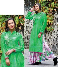 Green Georgette Indo Western Lehenga Choli 79000