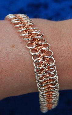 Sterling Silver and Copper Chainmaille bracelet | Flickr - Photo Sharing!