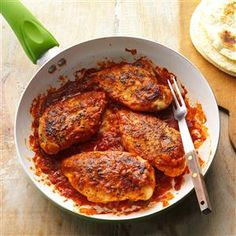 Cumin Chicken Recipe -This zesty chicken dish comes together in a flash, so it's perfect for those busy weeknights. But it's so saucy and delicious, it's certainly good enough for company! —Margaret Allen, Abingdon, Virginia