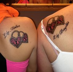 The mother daughter tattoos can be produced in various designs and looks. Mother and daughter tattoos do not have to be in an identical location, they don't even necessarily have to be the very same design. Mama Tattoos, Tattoos Bein, Sibling Tattoos, Mother Tattoos, Family Tattoos, Cute Tattoos, Leg Tattoos, Beautiful Tattoos, Body Art Tattoos