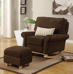 Brown Hush Hush Rocking/Nursing Chair