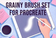 Grainy Brush Set For Procreate by purple_swarm on @creativemarket