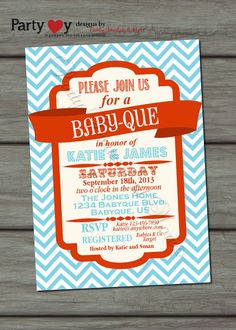 baby shower bbq bbq joint baby shower blue orange coed