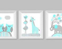 White Nursery Tree Decal Animal Nursery Art Baby by AppleandOliver